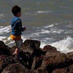Child at seashore
