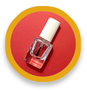 Bottle of clear nail polish
