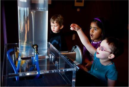 Children play with vortex exhibit