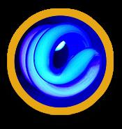 image of blue swirl