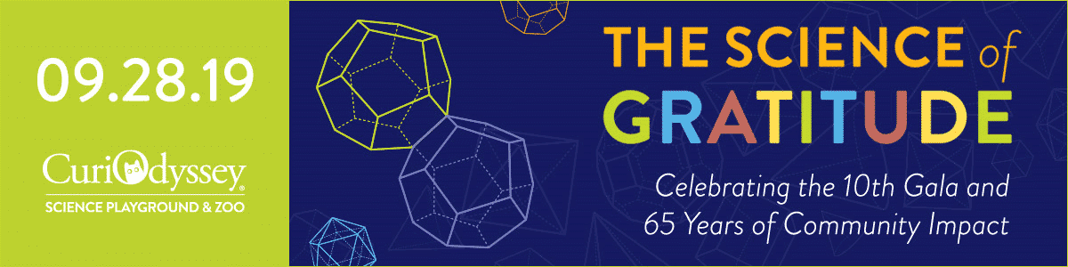 Save the Date, September 29, 2019. The Science of Gratitude. Celebrating the 10th Gala and 65 Years of Community Impact.