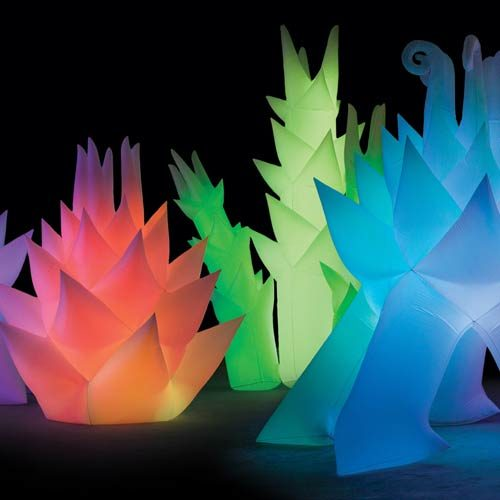Lighted inflatable sculptures