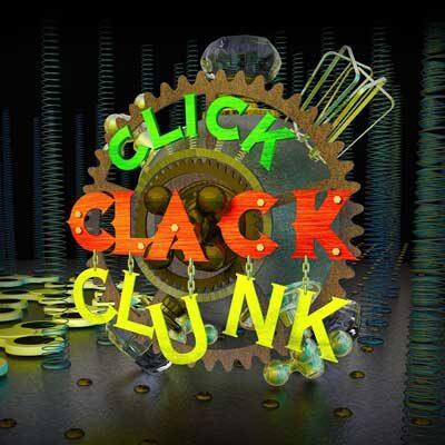 exhibit Click Clack Clunk square